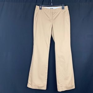 J.Crew Cotton City Fit Cuffed Pants. Size 6.